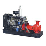 Split automatico Caso Fire Fighting Water Pump con Diesel Engine