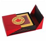 Коробка двери коробки 2 магнитного подарка гнездя птицы двойных дверей закрытия роскошного упаковывая бумажная