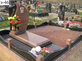 La pietra tombale europea del granito di stile con progetta
