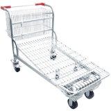 Cinco de metal de alta calidad de las ruedas de acero estándar Carrito de la herramienta de almacenamiento de la plataforma logística de almacén Troley Troley maletas Trolley