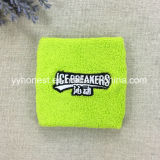 Comercio al por mayor Deportes muñequeras de algodón de Rizo Cinta absorbente personalizado