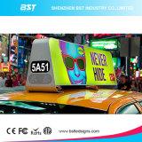 La mejor visualización de LED al aire libre del taxi del alto brillo de la calidad P5 para la publicidad video