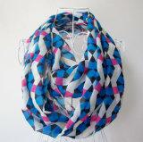 Sciarpa chiffona stampata di infinità del poliestere controllata modo della donna (YKY1101)