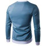 T longo do esporte da luva 65%Cotton 35%Ployster dos homens feitos sob encomenda mornos do inverno
