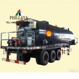 Vloeibare het Verwarmen van de Aanhangwagen van de Vrachtwagen van het Lichaam van de Tanker van het Vervoer van Storagge van het Asfalt van het Bitumen Semi Tank