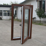특별한 가장자리 K02044를 가진 두 배 옆 다채로운 UPVC 단면도 여닫이 창 Windows