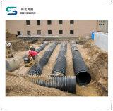 Tubulação de drenos ondulada do coletor da tubulação da drenagem da parede dobro do HDPE em Dn200-800mm