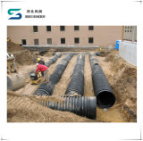 HDPE 두 배 벽 Dn200-800mm에 있는 물결 모양 배수장치 관 수집가 배수관