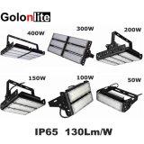옥외 LED 플러드 빛이 500 Watts150W에 의하여 400W 300W 200W 100W 실내 농구 테니스 50 와트 IP65 법원 필드 점화 갱도 투광램프 정착물