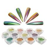 Pigmento variopinto del chiodo del pavone di migliore vendita che tuffa la polvere olografica di scintillio del chiodo del Chameleon del bicromato di potassio acrilico