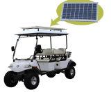 Chariot à chariot élévateur à bicyclette électrique avec panneau solaire 4 places