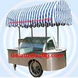 Carrinho de sorvete de luz LED para venda/Gelato/Ice Stick Exibir