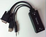 Audio+ USBケーブルが付いているHDMIケーブルのビデオコンバーターへの高品質サポート1080P HD VGA
