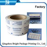Печать из алюминиевой фольги ламинированной бумаги для употребления алкоголя тампоны