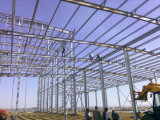 Atelier préfabriqué de structure métallique pour le plastique de fabrication
