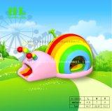 La couleur Mini Cute escargot saut gonflable videur pour les enfants
