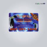 Cartão transparente de visita plástico feito sob encomenda do PVC do negócio