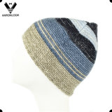 2016 Top Sales Winter Multicolor Stripe Knitted Scarf Beanie Knitted Set