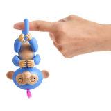 Regalo interactivo del juguete de la percha del movimiento del dedo de los sonidos de Zoe del juguete del mono del bebé de los pececillos