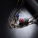 方法宝石類の合金ビーズ文の鎖のネックレス