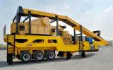 ISO/Ce anerkannter mobiler Stein/Kiefer-Zerkleinerungsmaschine für Felsen/Bergbau/beweglichen zerquetschenproduktionszweig
