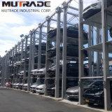 Mutrade 4 지면 4 포스트 쌓아올리는 기계 상승 차 주차 시스템
