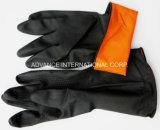 Chemischer beständiger schwarzer Latex-industrieller Handschuh