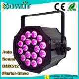 18 uds. de 10W RGBW par la etapa de iluminación LED de luz PAR