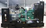Tipo abierto del motor refrigerado por agua de Cummins/tipo silencioso central eléctrica 300kw/375kVA
