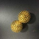 As esferas de massagem magnética acupuntura bolas pontiagudo com cor de ouro 3.2cm