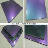 Panel compuesto camaleón PVDF de aluminio para la decoración