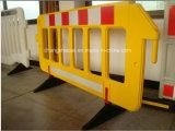 Barriera portatile gialla della plastica di sicurezza stradale dell'Italia e della Spagna