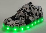 Los niños zapatos zapatillas con LED de luz de pared a los niños de calzado deportivo (604)