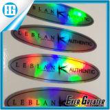 Custom дизайн печати прямоугольник клей Голографическая наклейка с логотипом