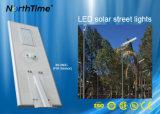 80W 5 Anos de garantia integrada Luz Rua Solar Iluminação de exterior