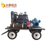 90kw二重吸引のCentriffugalポンプ移動式ディーゼル水ポンプセット