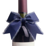 Feiertags-Partei-Wein-Flaschen-Farbband-Blumen-Bögen mit Gummiband