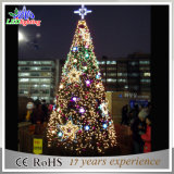 Do Natal gigante ao ar livre do diodo emissor de luz do metal da decoração da alameda luzes vermelhas da árvore