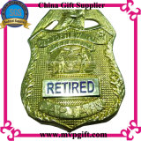 Bestellte Polizei-Abzeichen mit Firmenzeichen 3D voraus