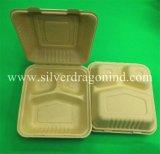 Tazón de fuente de papel sin procesar disponible biodegradable abonable de pulpa, categoría alimenticia, 450ml