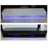 Nuevo estilo de almacenamiento de diseño de madera brillante soporte de televisor LED
