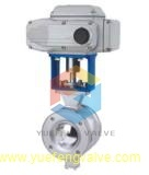 Válvula de esfera de controle elétrico V-Port