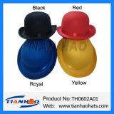 Estilo Vintage de poliéster de feltro preto Bowler Derby Hat para parte