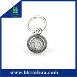 Marchio in lega di zinco automobilistico poco costoso su ordinazione di abitudine del metallo di Keyholder Keychain