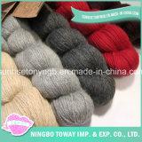 Remise de l'Alpaga acrylique couleur solide pour la vente de fils de chaussettes de coton