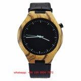 Het nieuwe Houten Horloge van de Beweging van het Kwarts van de Stijl met de Riem van het Leer voor Mensen Fs498