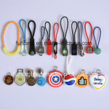 Customized H-Quality Plastic / TPU / Silicone Garment Zipper Pull