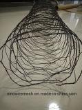 Sailin PVC鋼線が付いている上塗を施してある六角形の金網