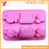Moulage en forme de coeur élevé de gâteau de silicones de pente de Tempreature FDA/Food d'ours respectueux de l'environnement, plateau de glaçon de DIY, moulage de biscuit de plateau de /Candy (XY-cm-61)