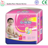 Pannolino centrale a gettare Couche Bebe del bambino di formato della pellicola stampata di alto assorbimento